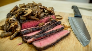 SmokingPit.com - Alder Smoked Sous Vide London Broil - The Money Shot!