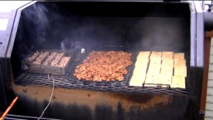 SmokingPit.com - Hickory cold smoked cheese, deli turkey and pecan nuts  using the A-MAZE-N-SMOKER cold smoke generator.