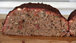 SmokingPit.com - Blue Cheese & Mushroom Meatloaf slow cooker on a Yoder YS640 Pellet cooker - The Money Shot