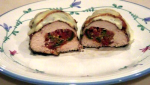SmokingPit.com - Yoder YS640 - Smoked Ranchero Salsa stuffed chicken breasts slow cooked on a Yoder YS640