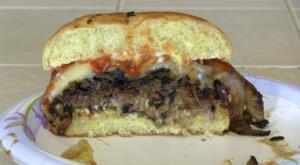 SmokingPit.com - Seared Tatonka Dust coated Buffalo Burgers  - Yoder YS640 cooked BBQ recipes & smoking meat tips and techniques. The money shot!