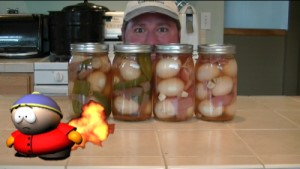 SmokingPit.com - Pickled Evil Egss with cold smoked Jalapeno peppers, Habanaro, onion and garlic