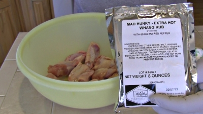 "Mad Hunky Meats ""Hot Ass Whang"" rub & chicken"