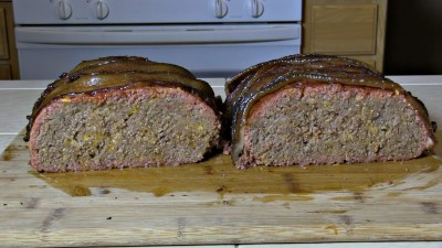 SmokingPit.com - Bacon Cheeseburger Meatloaf slow cooked on a Yoder YS640 Pellet cooker - Meatloaf