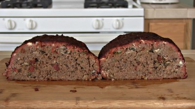 SmokingPit.com - Blue Cheese & Mushroom Meatloaf slow cooker on a Yoder YS640 Pellet cooker - The Meatloaf.