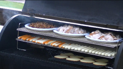 SmokingPit.com - How to Cold smoke cheese, deli turkey and pecan nuts using the A-MAZE-N-SMOKER cold smoke generator with a grill or Trager.