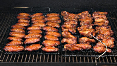 SmokingPit.com - Sesame Soy Chicken Wings.  Slow cooked on the yoder YS640.