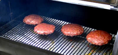 SmokingPit.com - Hickory Smoked Colossal Fair Burgers  - Traeger BBQ recipes & smoking meat tips and techniques.
