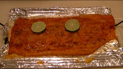 SmokingPit.com - Pecan & Cherry smoked Salmon with a Spicy Chipotle Lime Sauce - AMAZE-N-SMOKER cold smoked.   Smoked low and slow on my Yoder YS640 - Finished Salmon!