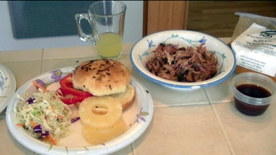 SmokingPit.com - The Ultimate Smoked BBQ Pulled Pork Sandwich ingredients - Smoked on a Yoder YS640 -