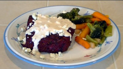SmokingPit.com - Hickory Smoked Top Round Steak with Spicey Blue Cheese Sauce -  Roast Beef - London Broil  Beef recipes and how to videos on  slow cooking on the Traeger texas smoker grill.  Smoking meats information and Treager Pellets Tacoma WA Washinton SmokingPit.com