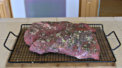 SmokigPit.com - Beef Tri Tip Marsala Recipe - slow cooked on a Yoder YS640 Pellet smoker. -  Seasoned Tri Tip.